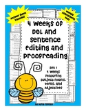 4 Weeks of Daily Language Sentence Labeling & Sentence Editing and Proofreading