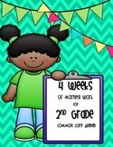 4 Weeks of Morning Work for 2nd Grade