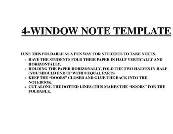 4-Window Note Template