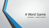 4-Word (Cuatro Palabra) Game Speaking Vocab. Practice Span