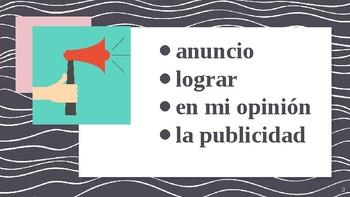 4-Word (Cuatro Palabra) Game Speaking Vocab. Practice Span. 4 Realidades 4 1-1