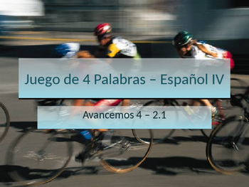 4-Word (Cuatro Palabra) Game Speaking Vocabulary Practice