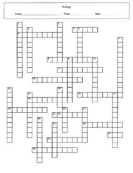 4 Worksheet Ecology Puzzle Set with Answer Keys