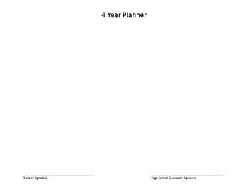 4 Year Academic Schedule Planner Version 1