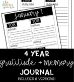 4 Year Gratitude and Memory Journal (EDITABLE)