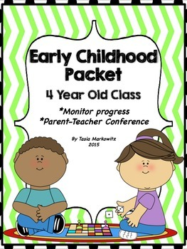 4 Year Old Parent-Teacher Conference Packet