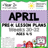 4 Year Old Preschool APRIL Lesson Plans