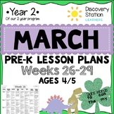 4 Year Old Preschool MARCH Lesson Plans
