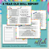 4 Year Old Skill Progress Report - Distance Learning