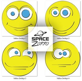 4 Yellow Smileys