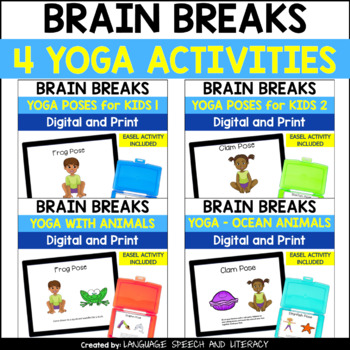 No Print Four Yoga Activities Bundle