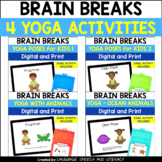 Distance Learning   Yoga Poses for Kids Bundle
