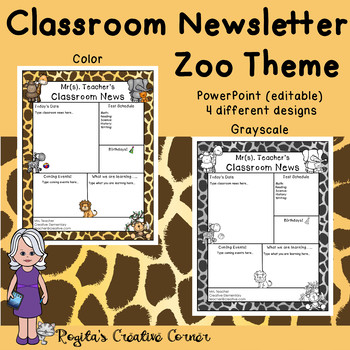 4 Zoo Themed Newsletter Templates