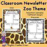 4 Zoo Theme Newsletter Templates