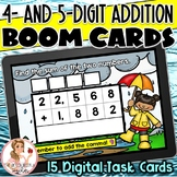 4- and 5-Digit Addition with Regrouping BOOM Cards | #teachergram