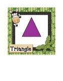 4 basic shape flash cards - Jungle