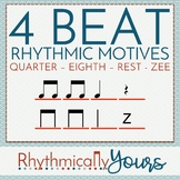 4-beat Rhythm Motives - Quarter, Eighth, Rest and Zee