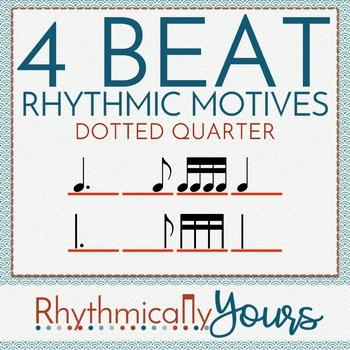 4-beat Rhythm Motives - Dotted Quarter/Eighth & Eight/Dotted Quarter