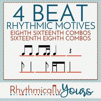 4-beat Rhythm Motives - Eighth/Sixteenth & Sixteenth/Eighth Combos
