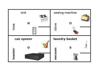 Appliances in English 4 by 4
