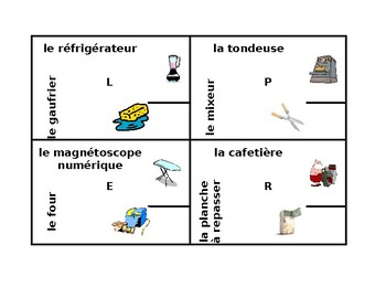 Appareils (Appliances in French) 4 by 4