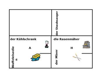 Haushaltsgeräte (Appliances in German) 4 by 4