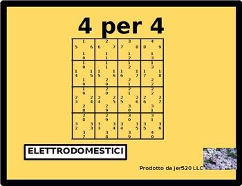 Elettrodomestici (Appliances in Italian) 4 by 4
