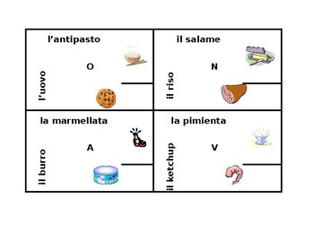 Cibi (Food in Italian) 4 by 4