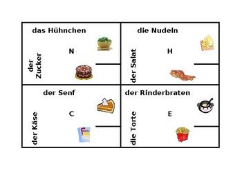 Essen (Food in German) 4 by 4