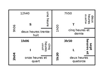 Heure (Time in French) 4 by 4