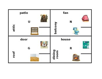House in English 4 by 4