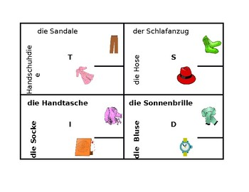 Kleidung (Clothing in German) 4 by 4