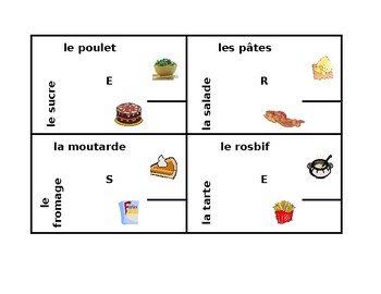 Nourriture (Food in French) 4 by 4