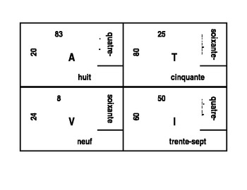 Numéros (Numbers in French) 4 by 4