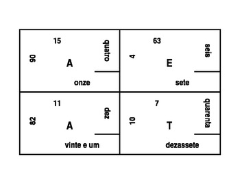 Números (Numbers in Portuguese) 4 by 4