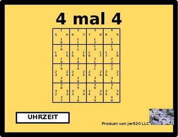 Uhrzeit (Time in German) 4 by 4