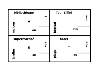 Endroits (Places in French) with à 4 by 4