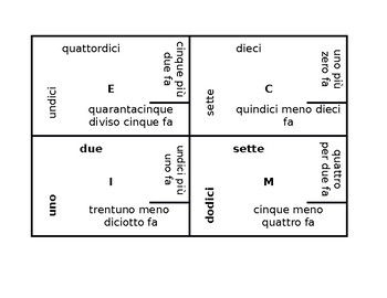 Matematica (Math problems in Italian) 4 by 4