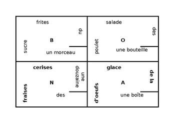 Partitif et les Expressions de quantité French 4 by 4