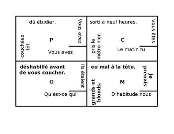 Passé composé et Imparfait French 4 by 4