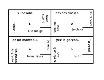French Present tense 4 by 4