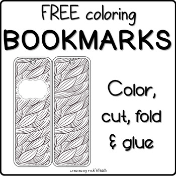 FREE - 4 coloring BOOKMARKS - Special occasion GIFTS