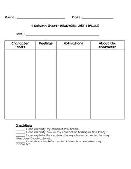 4 Column Chart Worksheets Teaching Resources Tpt