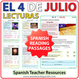 4 de julio - 4th of July Spanish Reading Passages