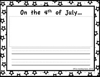 4 de julio/ 4th of July. Writing prompt