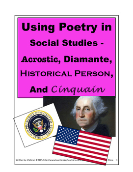 Secondary-Bundle Pack 4 Poetry activities for Social Studies