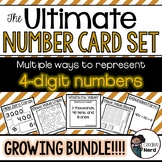 4-digit Number Cards - Print and Go cards for creative les