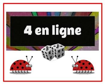 """4 en ligne - jeu de mathématiques style """"Connect 4"""""""