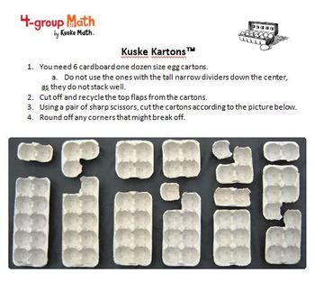 4-group Math Egg Kartons