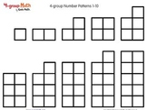 4-group Math Number Patterns 1-10